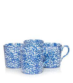 Set of 4 Spongware Mugs
