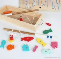 DIY: Wood Toy Fishing Game