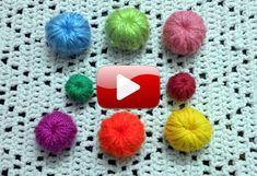 Tejer botones a crochet Crochet Brooch, Crochet Fabric, Crochet Buttons, Diy Buttons, Crochet Flowers, Crochet Stitches, Knit Crochet, Crochet Patterns, Beach Crochet