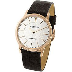 Stuhrling Original Newberry Unisex Brown Leather Strap