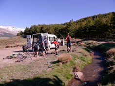 Flymount with GoPro at Bubion, Spanish Sierra Nevada, Switchbacks mountain biking