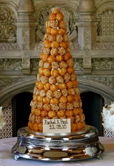 Croquembouche - traditional French Wedding Cake.  I've always wanted to have one at my wedding