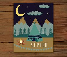 Sleep Tight Poster Print 8x10 by FrenchPressMornings on Etsy, $20.00