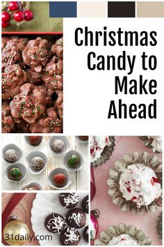 The season is near! Let's get started with these easy make-ahead Christmas candy recipes to celebrate the holidays! Plus -- they make delicious food gifts!