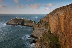 South Stack Lighthouse off the coast of Anglesey Island, Wales