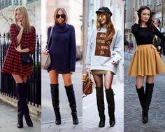 Dicas Sobre Moda...: Botas Over The Knee Outono/Inverno 2015