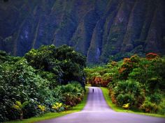 Oahu, Kaneohe - Hawaii. Having lived here it is far more beautiful than this picture. Especially when it rains and waterfalls fill the valleys of the mountains.
