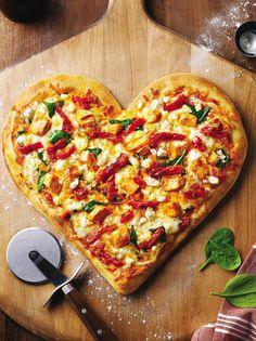 heart pizza...