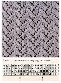 Knitting Lace Knitting Stitches, Crochet Stitches Patterns, Sweater Knitting Patterns, Knitting Charts, Lace Patterns, Stitch Patterns, Knit Crochet, Lace Knitting, Knitting Sweaters