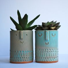 by atelier stella Image of Pair of small succulent pots