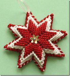 Handmade Star Ornaments #Christmas