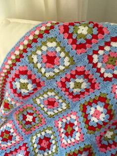 A Sampler of Stitches: Absent! Crochet Afghans, Crochet Square Blanket, Crochet Quilt, Granny Square Crochet Pattern, Crochet Squares, Crochet Granny, Crochet Motif, Crochet Designs, Easy Crochet