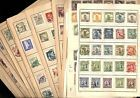 CHINA Many Overprints Excellent Assortment of OLD Stamps hinged on pages