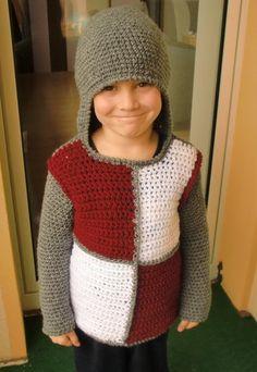 """Kinderpullover/+Kostüm+""""Kleiner+Kombi+Ritter""""+von+PaBo+Wool+++(Handmade+with+Heart)+auf+DaWanda.com"""