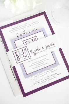 Eggplant Purple Wedding Invitations