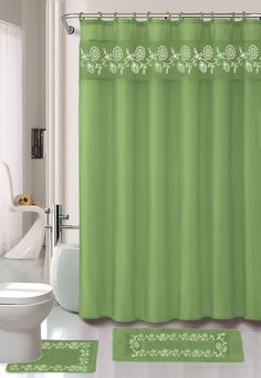 Leaves 15 Piece Shower Curtain Set