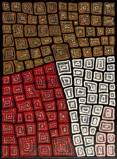 Aboriginal Artwork by Adam Reid Sold through Coolabah Art on eBay. Catalogue ID 10144