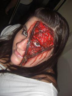 Zipper Face Halloween Make up