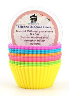 Mama Cups Silicone Baking Cups  12 Multi Colored Muffin Molds Pack  Cupcake Liners Non Stick Heat Resistant Lifetime Quality Guarantee * You can get more details by clicking on the image.(This is an Amazon affiliate link and I receive a commission for the sales)