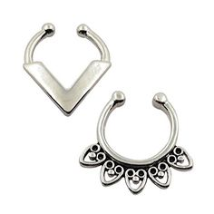 D&Min Jewelry Mixed 2pcs Fake Septum Clicker Non - Piercing Hanger Cz Gem Clip On Cheater Nose Ring D&Min Jewelry http://www.amazon.co.uk/dp/B019OFCRQQ/ref=cm_sw_r_pi_dp_C6lFwb1G4ANRA