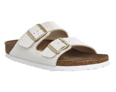 Buy Shiny Snake Cream Birkenstock Arizona Two Strap from OFFICE.co.uk.