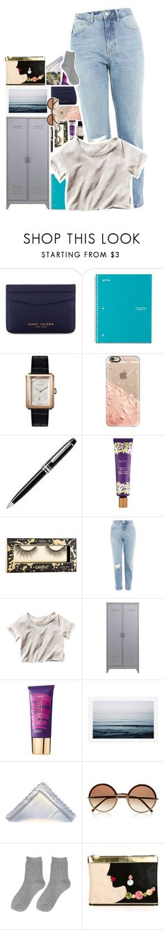 """""""Shut up and admire."""" by biteesizedd ❤ liked on Polyvore featuring Marc Jacobs, Five Star, Chanel, Casetify, Montblanc, tarte, Topshop, H&M, Pottery Barn and Cutler and Gross"""