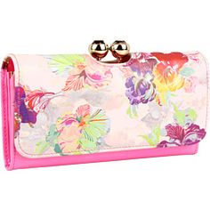 Ted Baker wallet <3  I've been wanting this wallet since last Spring :(    Ted Baker Gemmy Deco Crystal Matinee Floral Orchid Leather Patent Leat