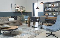 leuke stoel, leuk die verschillende eettafelstoelen, vind de stijl ook leuk en comfortabel. Bank vreselijk