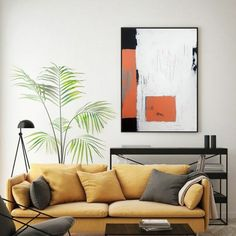 Orange textured hand painted wall art, geometrical contemporary art, ready to and on the wall artwork. Minimalist, contemporary, abstract. It will be a wonderful decoration for your home or office and a great gift for your friends and family. No matter the home style, modern, minimalist, art deco, industrial, the painting will add color, joy and depth to your space. Orange, light turquoise blue, black, white, unbleached titanium. Modern Oil Painting, Minimalist Painting, Contemporary Paintings, Minimalist Art, Large Canvas Wall Art, Extra Large Wall Art, Canvas Frame, Canvas Art, World Trade Center