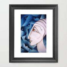 The Oracle Oil on Canvas 2013  Framed Art Print by SimonaMereuArt - $45.00