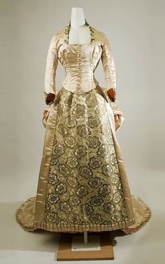 American wedding dress, early c.1870's.