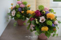 Aranjamente mese botez  Viburnum, dalii, iedera, trandafiri, Lisianthus Floral Wreath, Wreaths, Plants, Floral Crown, Door Wreaths, Deco Mesh Wreaths, Plant, Floral Arrangements, Garlands