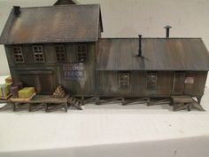 Highly Detailed Harshly Weathered Steam Era Freight Station HO Scale Building   eBay