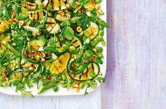 Courgette, asparagus and hazelnut salad