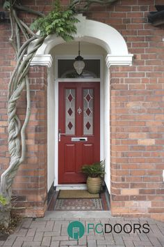 Based in Telford we are specialists in composite front & back doors. Design your own composite door with our online Door Designer Best Front Door Colors, Best Front Doors, Beautiful Front Doors, Front Door Entrance, Front Door Decor, Front Entrances, Glass Panel Door, Glass Front Door, Glass Panels