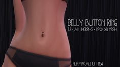 Belly Button Ring at Pickypikachu via Sims 4 Updates