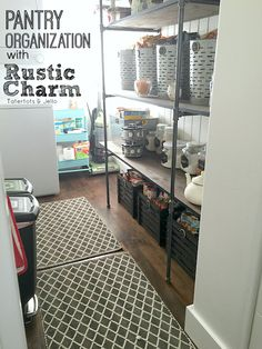 Pantry Organization with Rustic Charm!! PLUS FREE Printables to help you get more organized! -- Tatertots and Jello