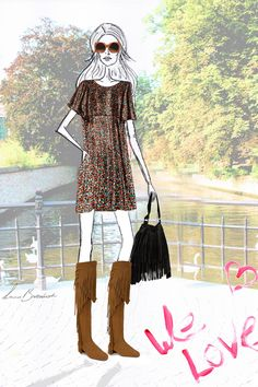 Fashion illustration - Zara fall 2015 trend collection - LA.B Fashion & Food