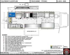 blueprints of a food truck Floorplans 8x20 Food truck