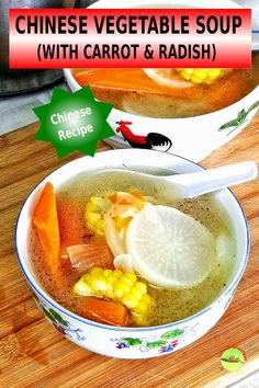 Chinese vegetable soup - 3 easy steps to make a tasty soup with carrot The Effective Pictures We Offer You About asian recipes sauces A quality picture can tell you many things. You can find the most Chinese Soup Recipes, Authentic Chinese Recipes, Asian Recipes, Chinese Vegetable Soup, Chinese Vegetables, Clear Vegetable Soup, Vegtable Soup Recipes, Kitchen Recipes, Cooking Recipes