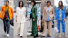 Pantsuits Were Everywhere on Day 2 of Milan Fashion Week. And on the other end of the street style spectrum, distressed blue jeans were also a thing.