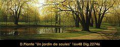 Un jardin de saules Vineyard, Painting, Outdoor, Art, Gardens, Outdoors, Painting Art, Paintings, Kunst