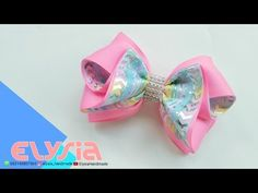 YouTube Diy Hair Bows, Diy Bow, Diy Ribbon, Ribbon Hair, Ribbon Bows, Grosgrain Ribbon, Ribbon Bow Tutorial, Kanzashi Tutorial, Crochet Bows