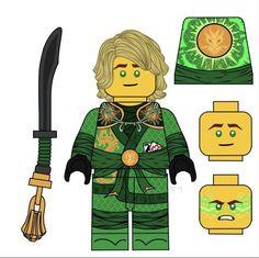 Lego Ninjago Lloyd, Lego Ninjago Movie, Lego Custom Minifigures, Arte Ninja, Ninjago Memes, Legos, Favorite Tv Shows, Dragons, Jay