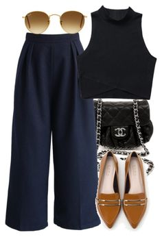 """""""Untitled #3762"""" by amyn99 ❤ liked on Polyvore featuring Chanel, Chicwish, Zara and Ray-Ban"""
