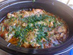 Пиле със зеленчуци в крок пот