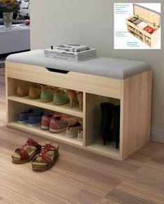 If you need help taming your shoe collection, you're in luck. I've curated 12 excellent shoe storage solutions that will help get your footwear in order in no time. Storage bench with hidden compartment ($85.00). This bench can store shoes as well as boots and has a hidden storage room under the seat. The seat cover … #smallstorage