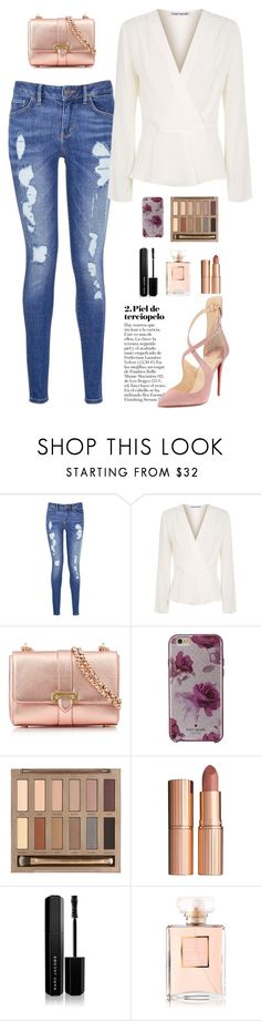 """""""Me and my old blue jeans"""" by chase-stars ❤ liked on Polyvore featuring Tommy Hilfiger, Elizabeth and James, Aspinal of London, Kate Spade, Urban Decay, Charlotte Tilbury, Marc Jacobs, Chanel and Christian Louboutin"""