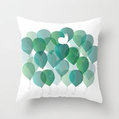 Ballons  Throw Pillow by Babiole 20$