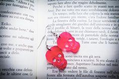 Earrings Skull  Fuchsia Plexiglass di PasBijoux su Etsy, €2.99